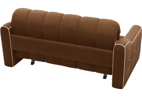 Диван тканевый прямой Флэтфорд-2 140 см темно-коричневый/бежевый (Велюр) - фото 3