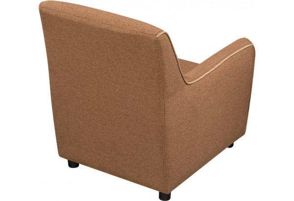 Кресло тканевое Флэтфорд коричневый/бежевый (Рогожка) - фото 4