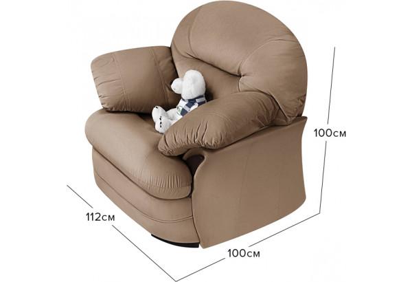 Кресло тканевое Ланкастер коричневый (Велюр) - фото 2