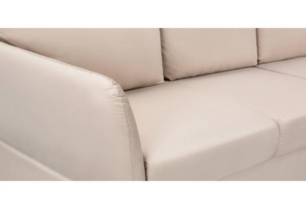 Диван тканевый угловой Хилтон светло-бежевый (Микровелюр) - фото 10