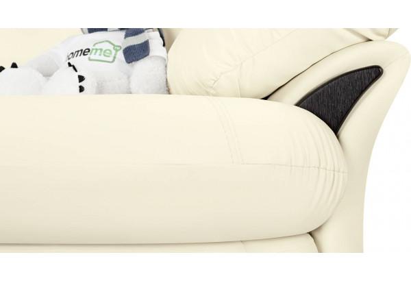 Диван тканевый угловой Ланкастер молочный (Экокожа, левый) - фото 7