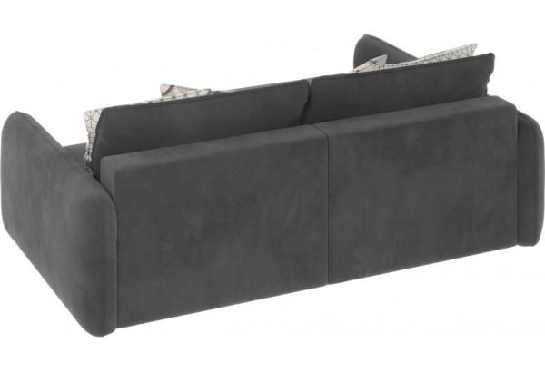 Диван тканевый угловой Портленд вариант №4 серый (Микровелюр, левый) - фото 3