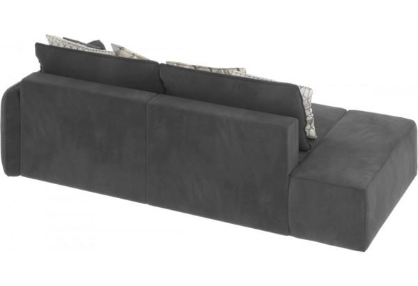 Диван тканевый прямой Портленд вариант №2 серый (Микровелюр, правый) - фото 4