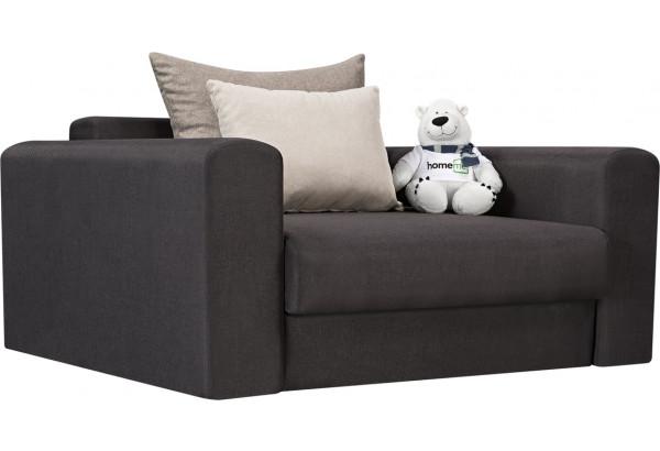 Кресло тканевое Медисон Вариант №1 100 см тёмно-серый (Рогожка) - фото 1