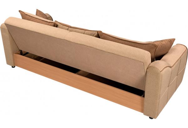 Диван тканевый прямой Флэтфорд бежевый/коричневый (Рогожка) - фото 3