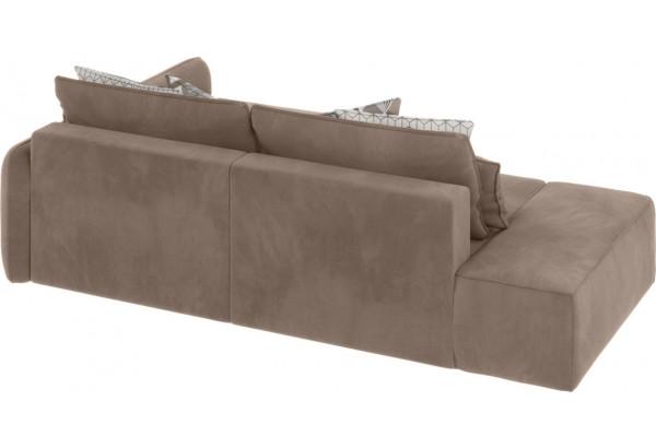 Модульный диван Портленд вариант №3 тёмно-бежевый (Микровелюр, правый) - фото 2