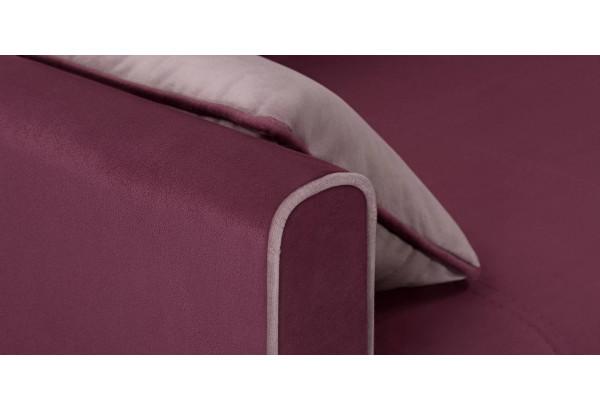 Диван тканевый прямой Римини бордовый (Велюр) - фото 7
