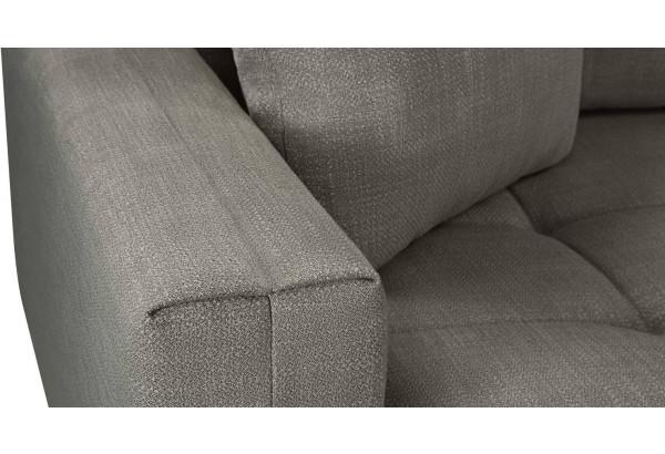 Модульный диван Брайтон вариант №2 серый (Рогожка) - фото 9