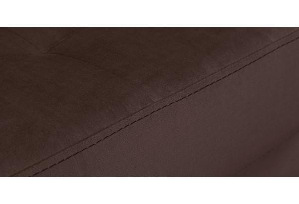 Диван тканевый прямой Камелот темно-коричневый (Велюр) - фото 5