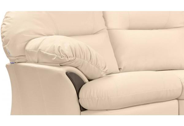 Диван кожаный угловой Ланкастер Бежевый (Кожаное изделие, левый) - фото 7