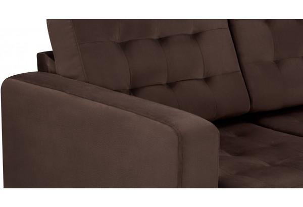 Диван тканевый угловой Камелот темно-коричневый (Велюр) - фото 9