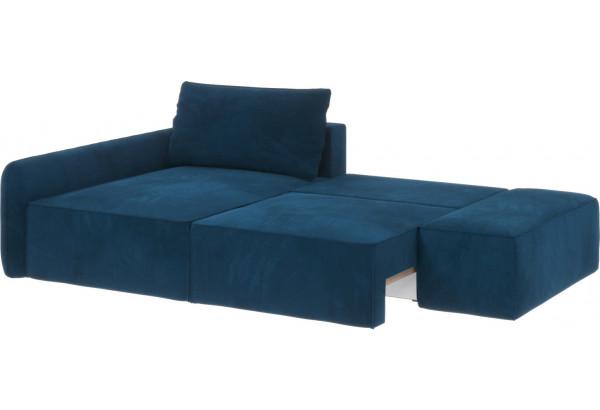 Диван тканевый угловой Портленд вариант №3 светло-синий (Микровелюр, левый) - фото 2
