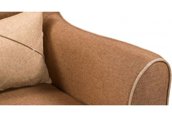 Кресло тканевое Флэтфорд коричневый/бежевый (Рогожка) - фото 8