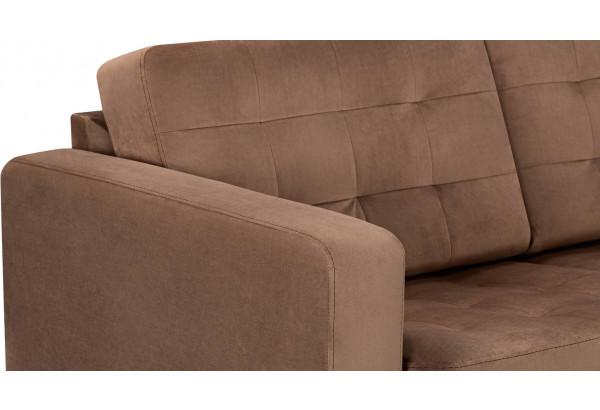 Диван тканевый прямой Камелот коричневый (Велюр) - фото 7