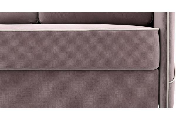Диван тканевый угловой Слим светло-розовый (Велюр, левый) - фото 6