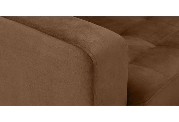 Диван тканевый угловой Камелот коричневый (Велюр) - фото 5