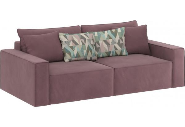 Диван тканевый прямой Корсо вариант №1 розово-серый (Велюр) - фото 1