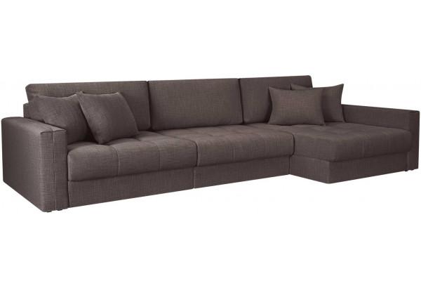 Модульный диван Брайтон вариант №3 графитовый (Рогожка) - фото 1