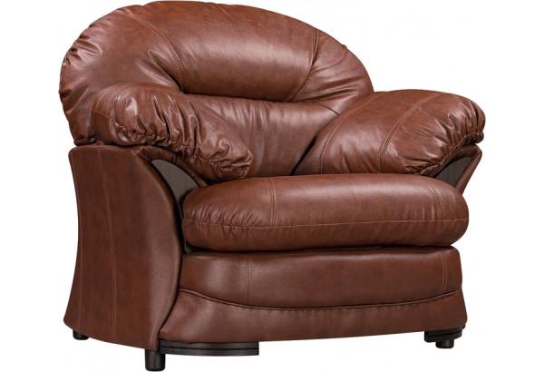 Кресло кожаное Ланкастер Коричневый (Кожаное изделие) - фото 1