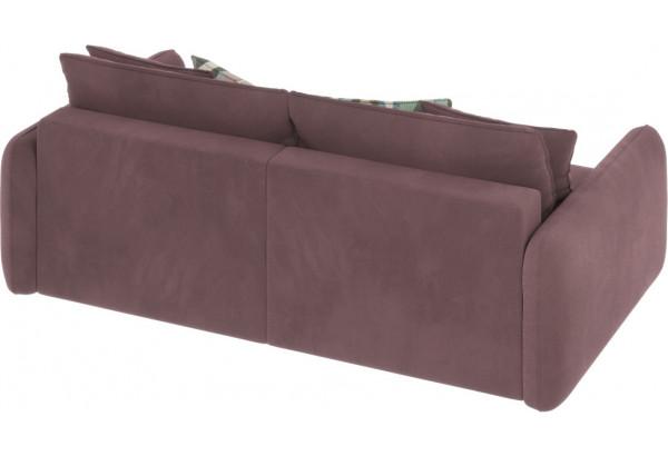 Диван тканевый прямой Портленд вариант №7 розово-серый (Велюр) - фото 3