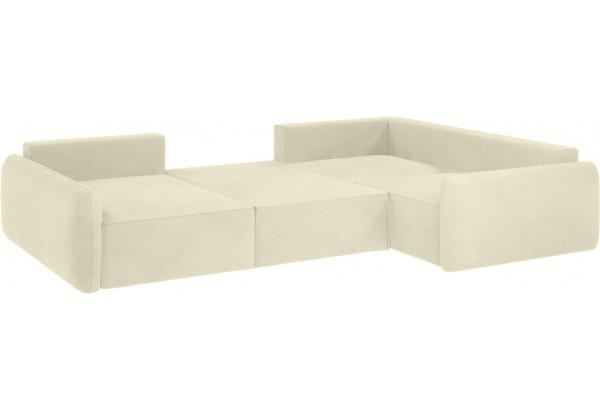 Модульный диван Портленд вариант №8 молочный (Микровелюр, правый) - фото 2