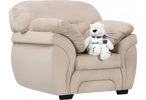 Кресло тканевое Бристоль бежевый (Велюр) - фото 1
