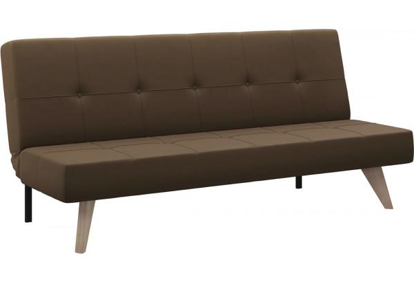 Диван тканевый прямой Касабланка тёмно-коричневый (Рогожка) - фото 1