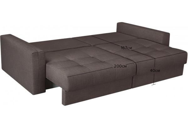 Модульный диван Брайтон вариант №1 графитовый (Рогожка) - фото 3