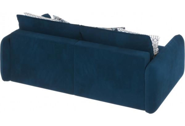 Диван тканевый прямой Портленд вариант №7 светло-синий (Микровелюр) - фото 4