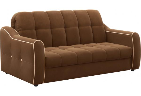 Диван тканевый прямой Флэтфорд-2 140 см темно-коричневый/бежевый (Велюр) - фото 1