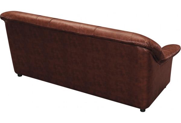 Диван кожаный прямой Женева Коричневый (Кожаное изделие, с механизмом) - фото 5