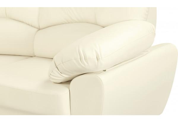 Диван тканевый угловой Эвита молочный (Экокожа, правый) - фото 7