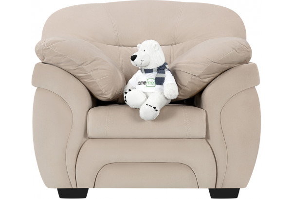 Кресло тканевое Бристоль бежевый (Велюр) - фото 3