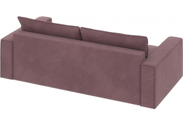 Диван тканевый прямой Корсо вариант №1 розово-серый (Велюр) - фото 3
