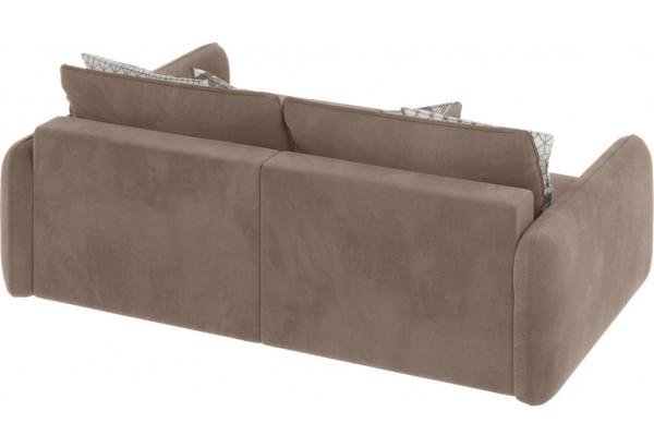Модульный диван Портленд вариант №4 тёмно-бежевый (Микровелюр, правый) - фото 2