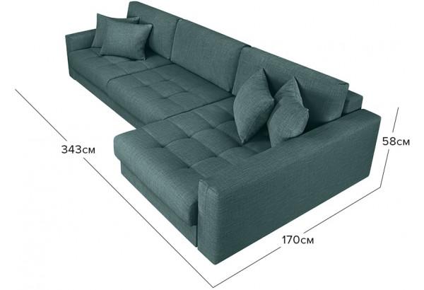 Модульный диван Брайтон вариант №3 голубой (Рогожка) - фото 2