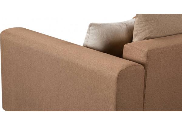 Диван тканевый прямой Медисон Вариант №1 коричневый (Рогожка) - фото 8