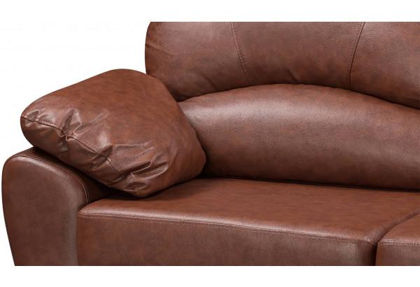 Диван кожаный угловой Эвита Коричневый (Кожаное изделие, правый) - фото 10