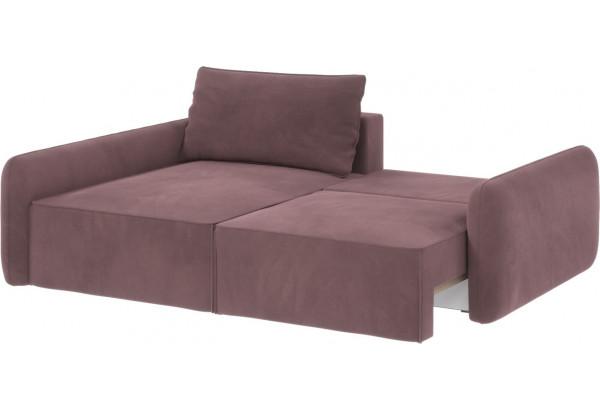 Диван тканевый угловой Портленд вариант №4 розово-серый (Велюр, левый) - фото 2