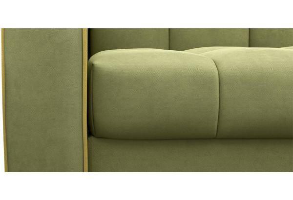 Диван тканевый прямой Флэтфорд-2 140 см фисташковый/желтый (Микровелюр) - фото 6