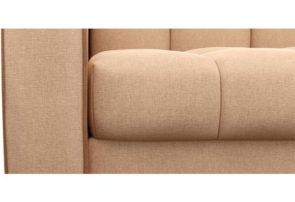 Диван тканевый прямой Флэтфорд-2 140 см бежевый/коричневый (Рогожка) - фото 5