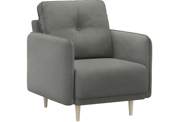 Кресло тканевое Голливуд серый (Рогожка) - фото 1