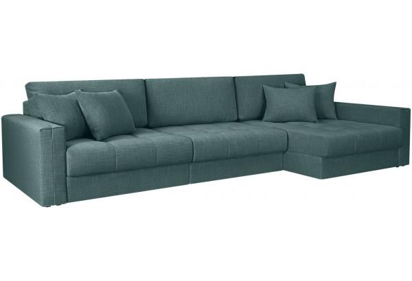 Модульный диван Брайтон вариант №3 голубой (Рогожка) - фото 1