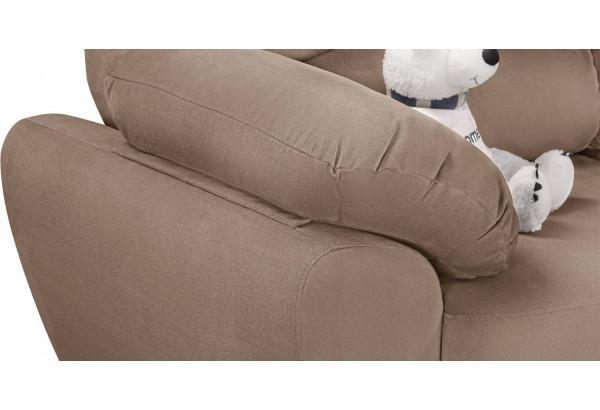 Диван тканевый угловой Эвита коричневый (Велюр, правый) - фото 7