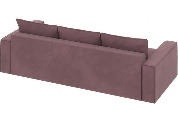 Диван тканевый прямой Корсо вариант №2 Розово-серый (Велюр) - фото 4