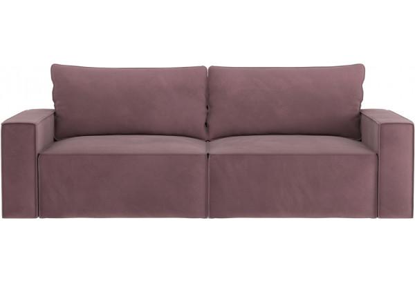 Диван тканевый прямой Корсо вариант №1 розово-серый (Велюр) - фото 5