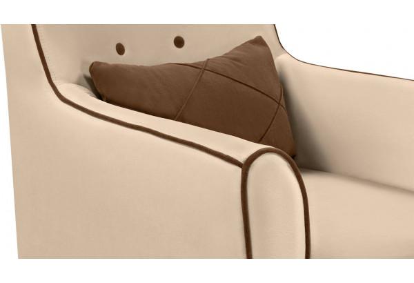 Кресло тканевое Флэтфорд бежевый/коричневый (Велюр) - фото 5