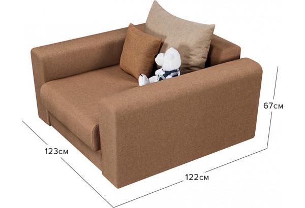 Кресло тканевое Медисон Вариант №2 80 см коричневый (Рогожка) - фото 2