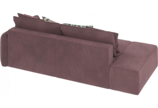 Диван тканевый прямой Портленд вариант №2 розово-серый (Велюр, правый) - фото 6