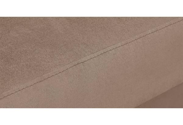 Диван тканевый угловой Эвита коричневый (Велюр, левый) - фото 10